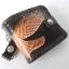 กระเป๋าสตางค์หนังแท้ ทำจากหนังวัว ด้านขอบกระเป๋าเป็นหนังถักตลอดขอบกระเป๋าพร้อมโซ้ thumbnail 3