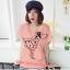 เสื้อยืดแฟชั่น ผ้านุ่ม ลาย Love Me (Size M:32-36 นิ้ว) สีโอรส thumbnail 1