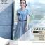 ชุดเดรสยีนส์ แฟชั่นเกาหลี แขนสั้น หน้าอกแต่งด้วยผ้าลายหน้าผู้หญิงเหมือนแบบ thumbnail 1
