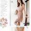 เสื้อผ้าแฟชั่น CHU VIVI DRESS ชุดเดรสแฟชั่นเกาหลี ใส่ทำงาน คอวี แขนกุด ผ้าชีฟอง สีชมพู แต่งกระโปรง 2 ชั้น จั๊มเอว น่ารัก สามารถใส่ออกงานได้ thaishoponline (พร้อมส่ง) thumbnail 5