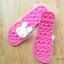 K020-DPK **พร้อมส่ง** (ปลีก+ส่ง) รองเท้านวดสปา เพื่อสุขภาพ ปุ่มใหญ่สลับเล็ก (การ์ตูน) สีชมพูเข้ม ส่งคู่ละ 150 บ. thumbnail 5