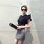 แฟชั่นเกาหลี Set เสื้อ และกระโปรง สวยเก๋ thumbnail 2