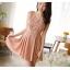ชุดเดรสสั้น DRESS ชุดเดรส ผ้าซีฟอง คงรูปและทิ้งตัวดี โทนสี APRICOT มีซับใน ใส่ทำงาน ใส่เที่ยวได้ (พร้อมส่ง) thumbnail 1