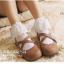 ถุงเท้าขอบระบายลูกไม้สีขาว thumbnail 5