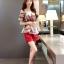 แฟชั่นเกาหลี set เสื้อและกางเกงขาสั้น สวยน่ารักมากๆ thumbnail 2