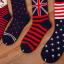 [เซต3คู่] ถุงเท้าลายธงชาติ ขนาดเท้าใส่ได้ทั้งชายและหญิง thumbnail 6