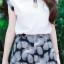 เสื้อผ้าแฟชั่น Set ใบไม้ เสื้อ-กางเกง แมทช์สีเข้าชุด รหัส RN70_1 thumbnail 4