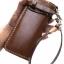 กระเป๋าสตางค์ยาวของสุภาพบุรุษ สีน้ำตาล หนังหนา แท้ เกรด A+ thumbnail 2