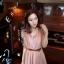 CHERRY DRESS ชุดเดรสคอจีน แฟชั่นผ้าชีฟอง สีชมพู ติดกระดุมหน้า แขนเสื้อแต่งระบายจับจีบ เอวเป็นยางยืด มีซับในทั้งตัว มาพร้อมเข็มขัดเข้าชุด ใส่ทำงาน น่ารัก Donut fashion (พร้อมส่ง) thumbnail 3