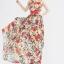 ชุดเดรสยาว Brand Luomeidisha ชุดเดรสแขนกุด ผ้าชีฟองเนื้อดี ลายดอกไม้สีแดง พร้อมผ้าผูกเอวและกระโปรงยาว (พร้อมส่ง) thumbnail 3