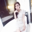 ชุดเดรสสวยๆ แฟชั่นเกาหลีมาใหม่ ผ้าถักโครเชต์ สีขาว thumbnail 7