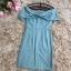 ชุดเดรสสวยๆ ผ้าคอตตอนผสม spandex เนื้อนิ่มสีฟ้าหม่น thumbnail 7