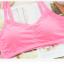 บรา3สาย 3-stripe bras บราสายไขว้ สไตล์สปอร์ตบราขนาดฟรีไซต์ 32/34/36 Candy Color thumbnail 2