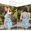 ชุดว่ายน้ำวันพีช โทนสีฟ้า ลายดอกไม้สวยสดใส หวานปนเซ็กซี่ thumbnail 3