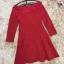 ชุดเดรสสีแดง ผ้าคอตตอนผสม เนื้อดี แขนยาวห้าส่วน thumbnail 11
