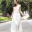 ชุดราตรียาว Brand Mei Na ชุดเดรสยาวแขนกุด ตัวเสื้อผ้าโปร่งสีน้ำตาล แต่งด้วยดิ้นสีขาว ตัวกระโปรงผ้าชีฟองสีขาว สวยมากๆครับ (พร้อมส่ง) thumbnail 3