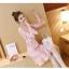 ชุดเดรสลูกไม้ สีชมพู ผ้าเนื้อดีเนื้อนิ่มมากๆ แขนยาวสี่ส่วน thumbnail 9
