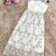 ชุดเดรสยาว ผ้าลูกไม้ปัก เกรดพรีเมี่ยม ผ้าลูกไม้ปักลายดอกไม้โทนสีขาว และสีครีมทองอ่อนๆ thumbnail 15