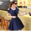 ชุดเดรสน่ารัก ผ้าชีฟองชนิดเนื้อทราย สีน้ำเงิน thumbnail 2