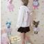 [พรีออเดอร์] ชุดเสื้อแขนยาวน่ารัก เสื้อกันหนาวหูกระต่ายสีขาว thumbnail 4