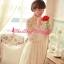 ชุดเดรส Brand Aimilan Princess style ชุดเดรสลูกไม้ แขนยาว คอปักมุกสีขาว พร้อมเข็มกลัดรูปผู้หญิงติดที่คอเสื้อ สวยมากๆครับ (พร้อมส่ง) thumbnail 4