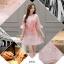 ชุดเดรสผ้าไหมแก้ว organza สีชมพู ลายกลีบดอกกุหลาบ สีชมพูแดง thumbnail 8