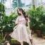 แฟชั่นเกาหลี ชุด set เสื้อ และกระโปรงสวยมากๆ ครับ เสื้อผ้าคอตตอนผสม spandex เนื้อนิ่ม thumbnail 3