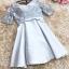 ชุดราตรีสั้น ใส่ออกงานสุดหรู ตัวชุดเป็นผ้าไหมสีเทา ดีไซน์คอวี thumbnail 5