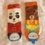 ถุงเท้าเกาหลีการ์ตูนลายแพนด้าน้อยและหมีใหญ่ [ขนาดเท้า35-42] thumbnail 1