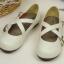 Pre-Order รองเท้าตุ๊กตา-สีขาวเทา thumbnail 5