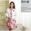 แฟชั่นเกาหลี set 2 ชิ้น เสื้อสูท + เดรส สวยสุดๆ มาพร้อมเข็มกลัดรูปดอกไม้ และเข็มขัดสีขาว เหมือนแบบ thumbnail 3