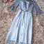 ชุดราตรียาว ตัวเสื้อผ้าลูกไม้ลายดอกไม้สีเทา เปิดไหล่ ที่ลำตัวด้านในมีสายล็อกที่ช่วงอก thumbnail 9