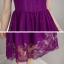 ชุดเดรสสวยๆ ตัวชุดผ้าลูกไม้ลายเส้น สีม่วง หน้าอกและชายแขนเสื้อเป็นผ้าถักลายดอกไม้ thumbnail 7