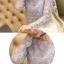 เสื้อผ้าถักโครเชต์ แฟชั่นเกาหลีมาใหม่ สีเทาอมฟ้า แขนยาว ชายปล่อย thumbnail 12