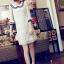 DRESS ชุดเดรสแฟชั่นผ้าลูกไม้ สีเบจ คอตุ๊กตาเกาหลี ใส่ทำงาน สามารถใส่ออกงานได้ น่ารักมากๆ ครับ (พร้อมส่ง) thumbnail 2