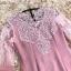 ชุดเดรสสวยๆ ผ้าสักหลาดเนื้อนิ่ม สีชมพูตุ่น แขนยาว thumbnail 8