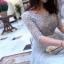 ชุดราตรียาว ออกงานตัวเสื้อเป็นผ้าโปร่ง 2 ชั้น สีเทาเงิน thumbnail 7