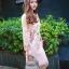 ชุดเดรสสวยๆ ผ้าลูกไม้ ปักลายดอกไม้สีครีม thumbnail 1