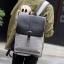 Pre-order กระเป๋าเป้สะพายหลังนักเรียน นักธุรกิจ ผู้ชาย แฟขั่นเกาหลี รหัส Man-1322-7 สีเทา ฝาหนัง thumbnail 1