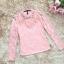 เสื้อสีชมพู เสื้อผ้าลูกไม้สีชมพูแขนยาว ช่วงคอเสื้อไหล่เป็นผ้ามุ้งซีทรู thumbnail 10