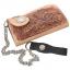 กระเป๋าสตางค์หนังวัวแท้ ลวดลายช่อไม้ ขนาดเล็กกระทัดรัด แปลกใหม่ ไม่เหมือนใคร รูปทรงสไตน์ Cowboy thumbnail 5