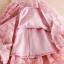 ชุดเดรสแขนกุด ผ้าคอตตอนเนื้อดี สีชมพูตุ่น กระโปรงด้านนอก เย็บซ้อนด้วยผ้าปักลายขนนก thumbnail 17