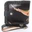 กระเป๋าสตางค์ลวดลายนกอินทรีย์กางปีก 2 พับ พร้อมโซ่ Line id : 0853457150 thumbnail 2