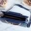 พร้อมส่ง HB-4201 สีน้ำเงิน กระเป๋าแฟชั่นเกาหลีแต่งลายเย็บและอะไหล่กวาง thumbnail 2