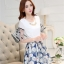 ชุดเดรสน่ารัก ตัวเสื้อผ้าชีฟองเนื้อดี สีขาว แขนเสื้อเก๋เป็นปีกผีเสื้อ thumbnail 2