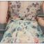ชุดเดรสแขนกุด ผ้าชีฟองเนื้อดี พื้นสีครีม ลายดอกไม้เหมือนแบบ thumbnail 10
