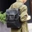 Pre-order กระเป๋าเป้สะพายหลัง เป้เดินทาง เป้นักศีกษา ใส่หนังสือผู้ชายเแฟขั่นเกาหลี รหัส Man-6261 สีดำ thumbnail 1