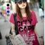 เสื้อยืดแฟชั่น ผ้าเนื้อนุ่ม ลาย City Scape สีชมพูบานเย็น thumbnail 1