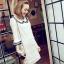 DRESS ชุดเดรสแฟชั่นผ้าลูกไม้ สีเบจ คอตุ๊กตาเกาหลี ใส่ทำงาน สามารถใส่ออกงานได้ น่ารักมากๆ ครับ (พร้อมส่ง) thumbnail 8