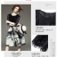 ชุดเดรสแฟชั่น ตัวเสื้อผ้าลูกไม้ชนิดยืดหยุ่นได้ดี สีดำ แขนยาวสี่ส่วน thumbnail 7